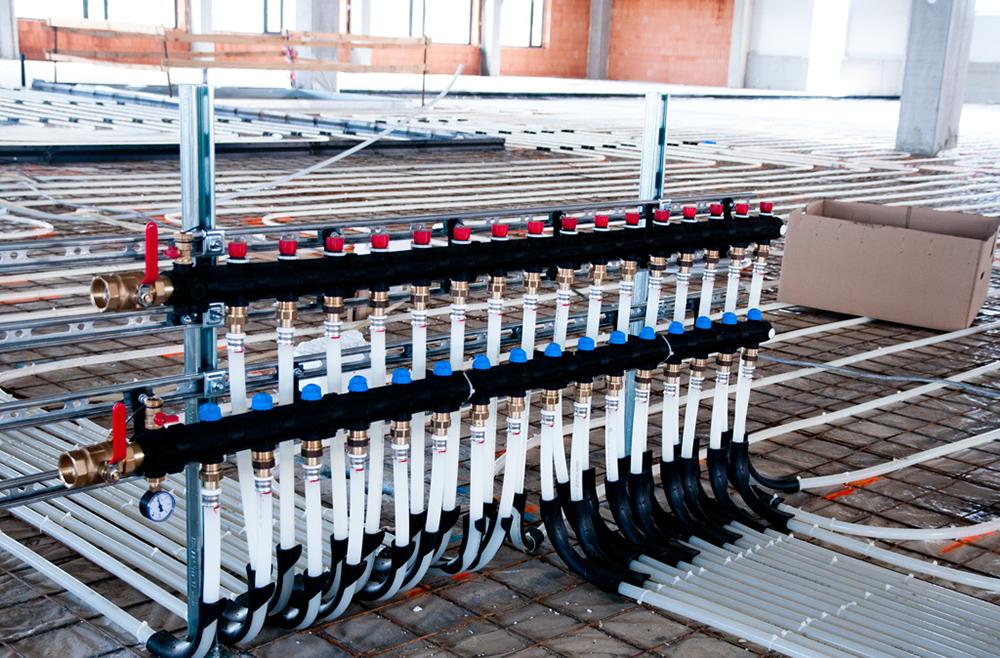 Vytápění výrobní haly (Moravany u Brna)