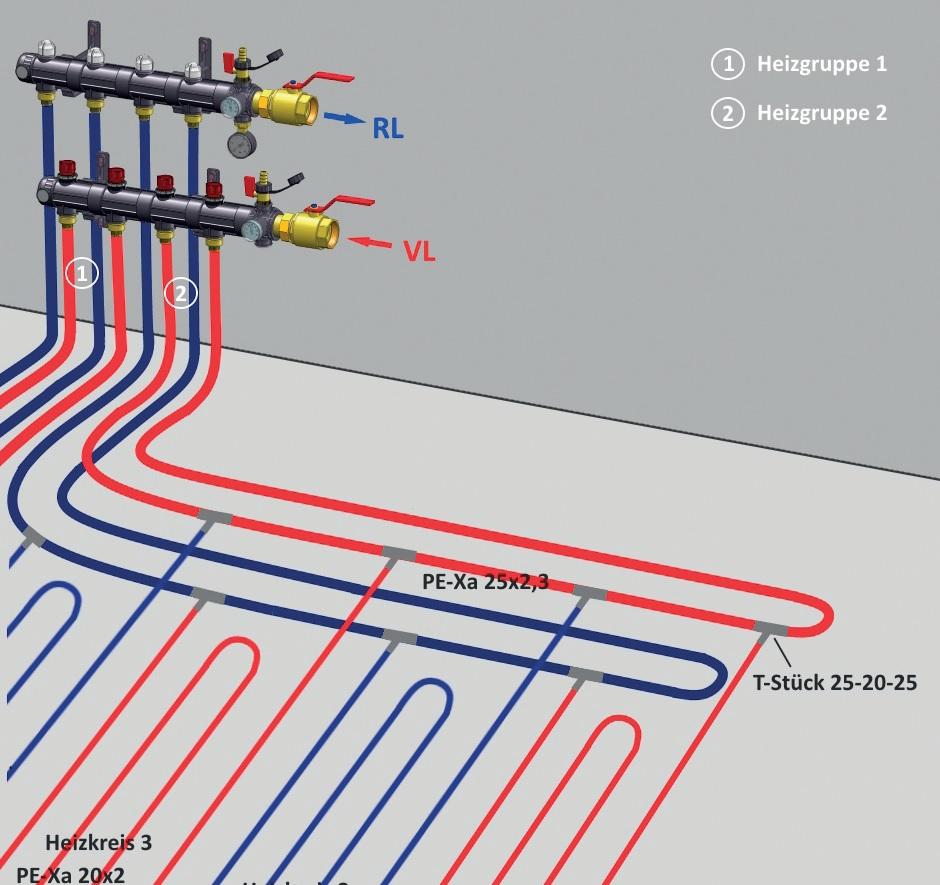 průmyslové podlahové vytápění a chlazení